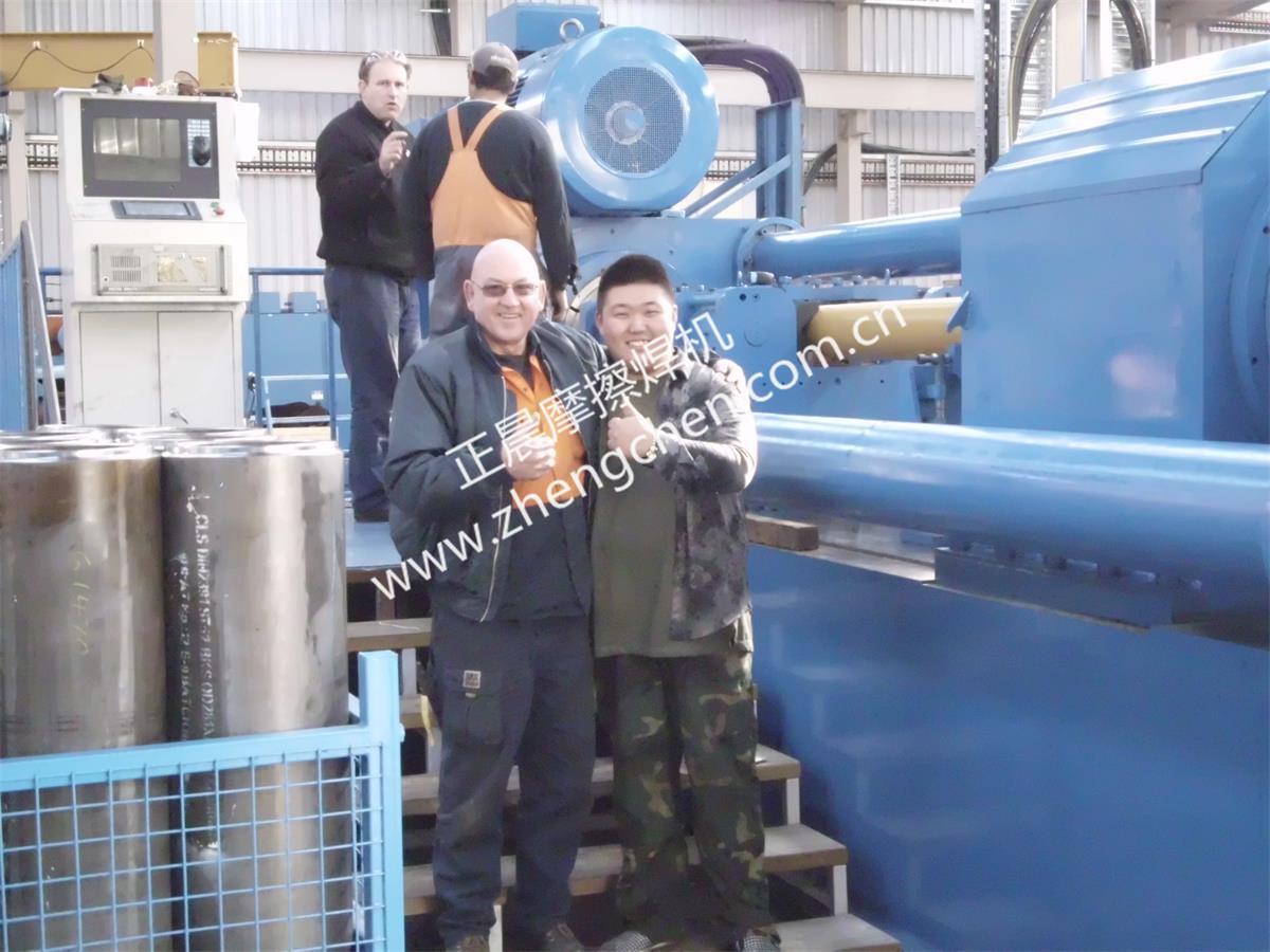 澳大利亞用戶為500噸大型摩擦焊機點贊
